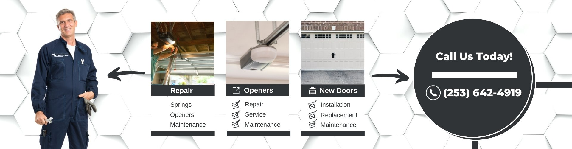 Up & Running - Garage Door Services - Image Slider